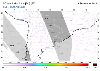 OMI - SO2 vertical column of 06 December 2019