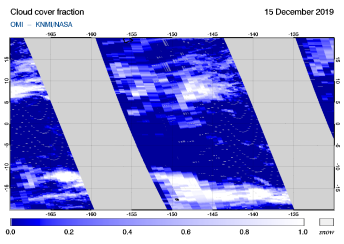 OMI - Cloud cover fraction of 15 December 2019
