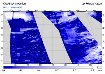 OMI - Cloud cover fraction of 27 February 2020