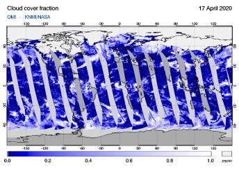 OMI - Cloud cover fraction of 17 April 2020