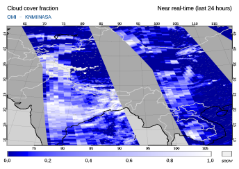 OMI - Cloud cover fraction of 16 September 2021