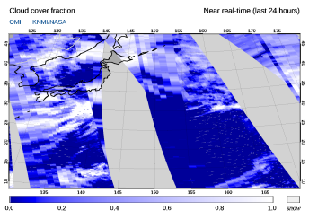 OMI - Cloud cover fraction of 03 March 2021