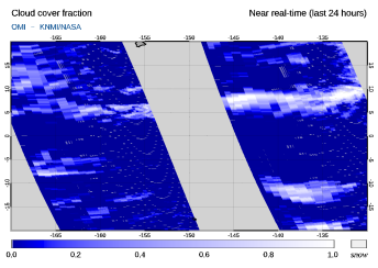 OMI - Cloud cover fraction of 06 July 2020