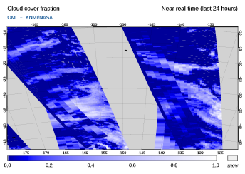 OMI - Cloud cover fraction of 29 March 2020