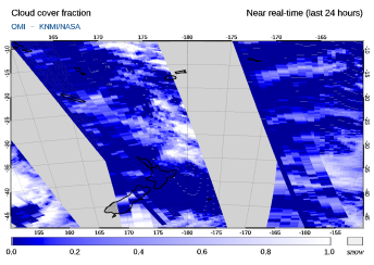 OMI - Cloud cover fraction of 20 September 2021