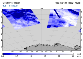 OMI - Cloud cover fraction of 05 June 2020