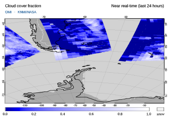 OMI - Cloud cover fraction of 03 August 2021