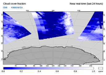 OMI - Cloud cover fraction of 19 September 2021