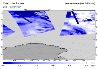 OMI - Cloud cover fraction of 26 September 2021