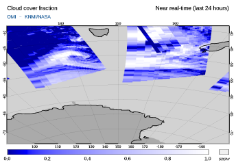 OMI - Cloud cover fraction of 05 April 2020